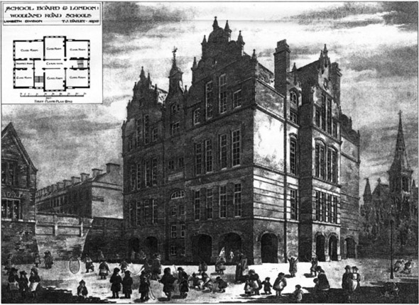 1887 &#8211; School, Woodland Roads, Lambeth, London