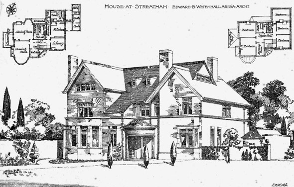 1895 &#8211; House at Streatham, London