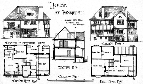 1902 &#8211; House at Belvedere Drive, Wimbledon, London