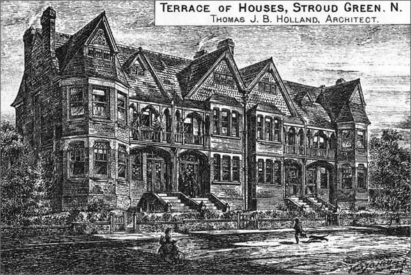 1886 – Terrace of Houses, Stroud Green, London