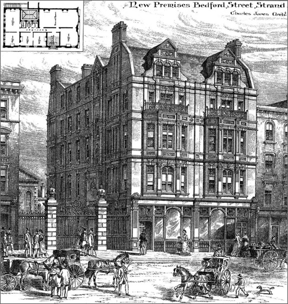 1886 New Premises Bedford Street Strand London Architecture Of London