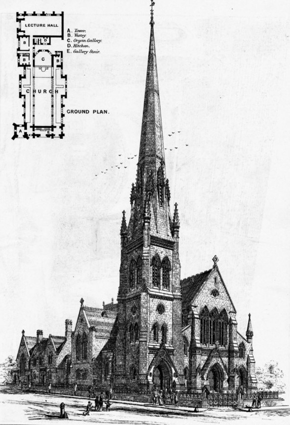 1870 &#8211; Congregational Church, Stamford Hill, London