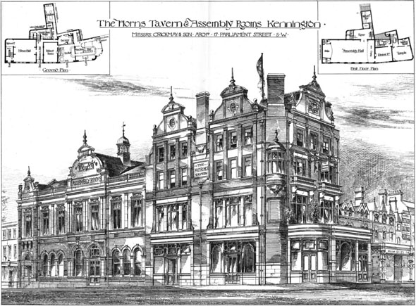 1887 – The 'Horns' Tavern & Assembly Rooms, Kennington, London