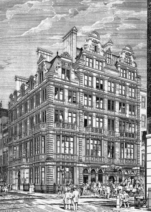 1883 – Hatchett's Hotel & White Horse Cellars, Piccadilly, London