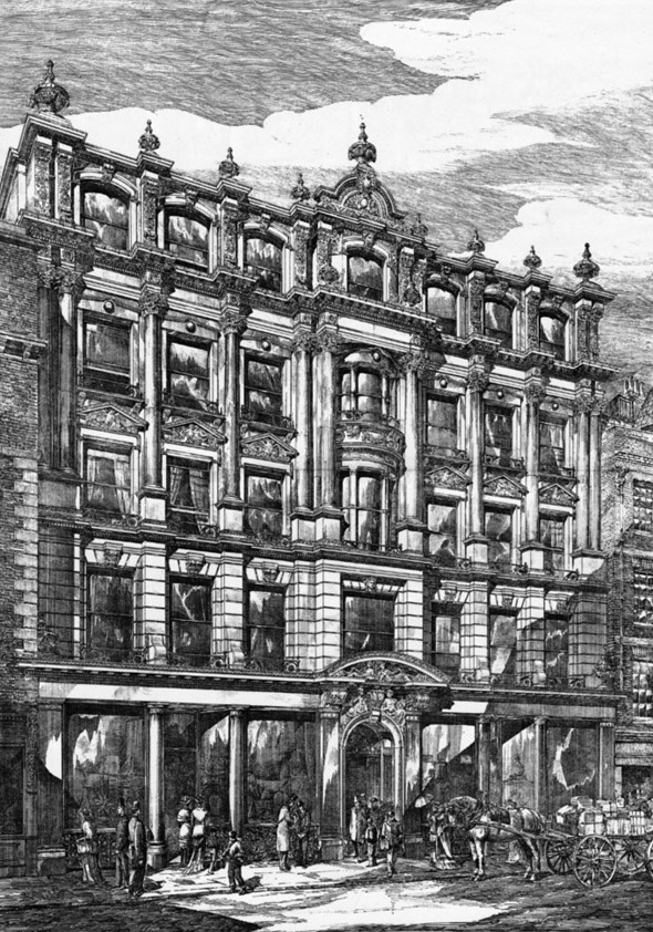 1879 – Leadenhall House, Nos. 99-103 Leadenhall Street, London