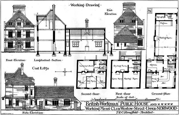 1877 – Public House & Working Men's Club, Upper Norwood, London