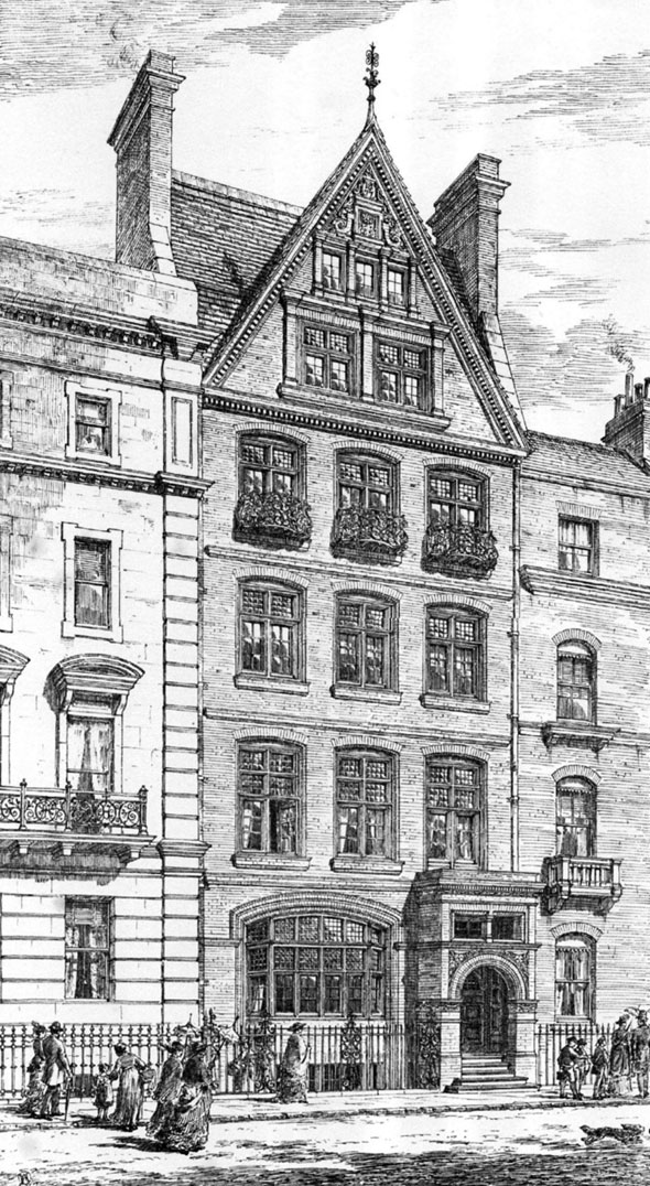 1877 &#8211; House in Bloomsbury Square, London