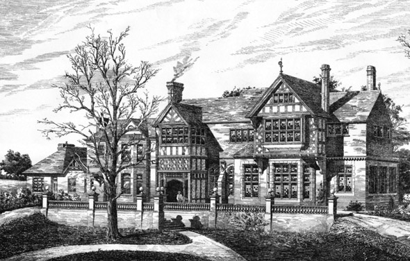 1887 – Residence at Westcombe Park, Blackheath, London