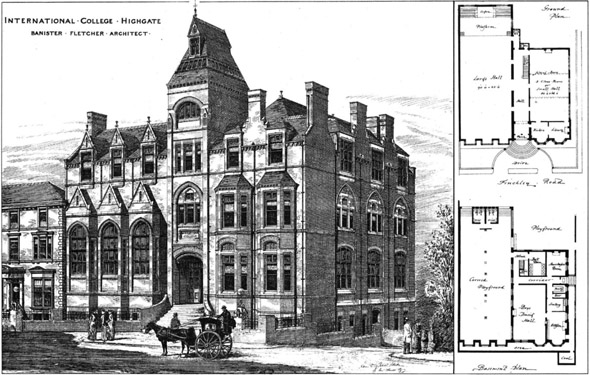 1885 &#8211; International College, Highgate, London