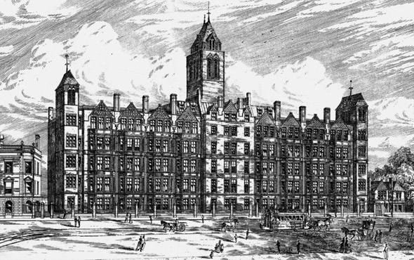 1885 &#8211; St. Pancras Workhouse Extension, London