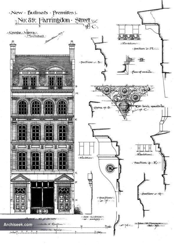 1880 – New Business Premises, No.89 Farringdon St, London