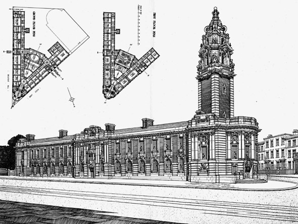 1908 &#8211; Lambeth Municipal Buildings, Brixton Hill, London