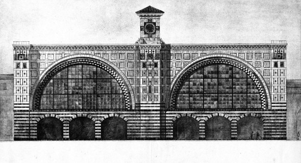 1905 &#8211; Redesign of Kings Cross Station, London