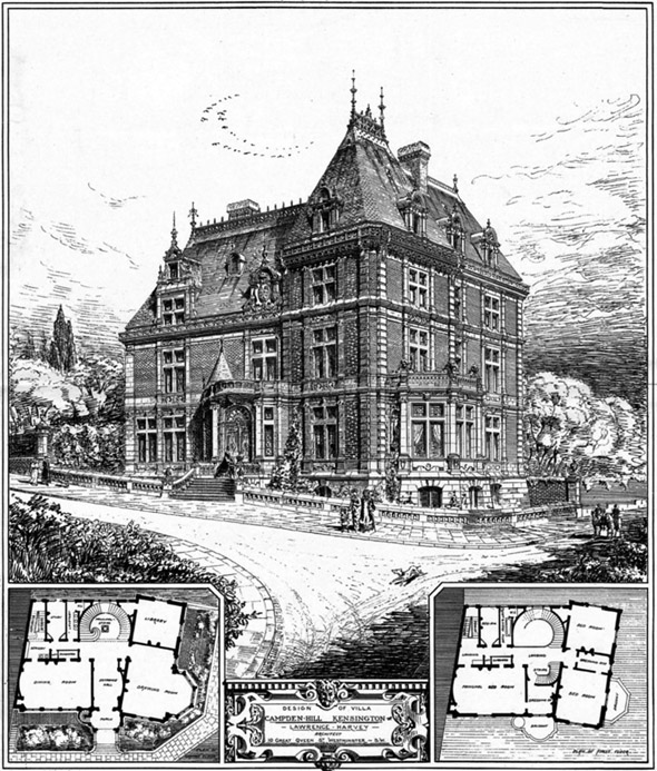 1885 –  Villa at Camden Hill, Kensington, London
