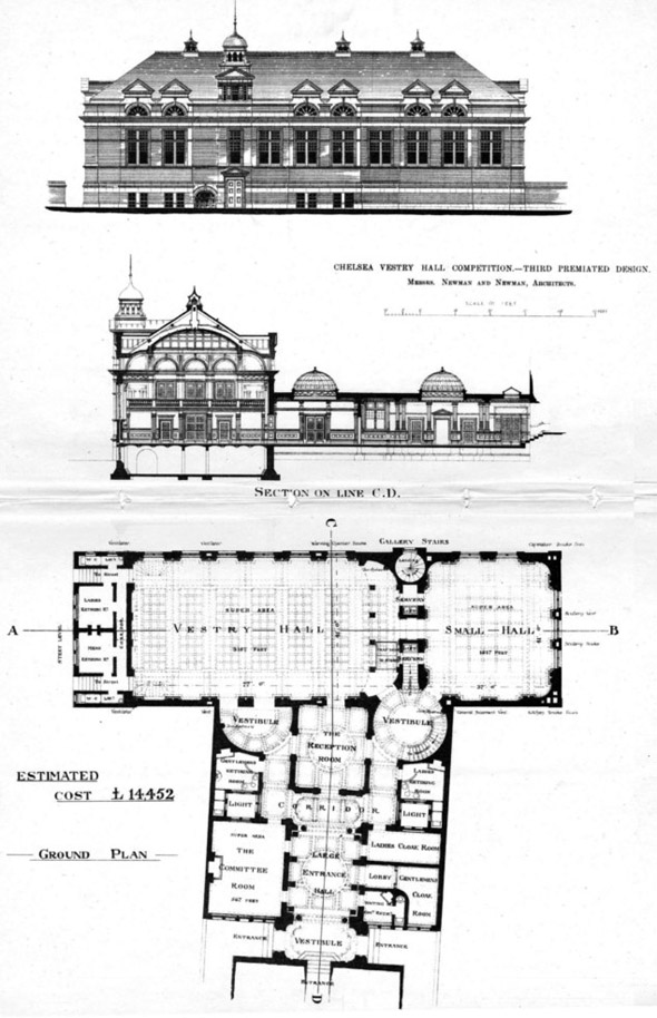 1885 &#8211; Chelsea Vestry Hall Competition