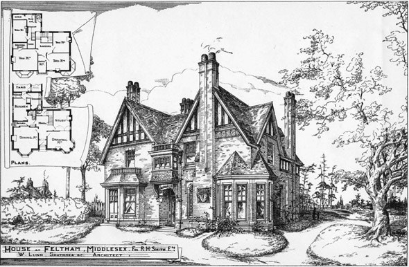 1888 &#8211; House at Feltham, Middlesex
