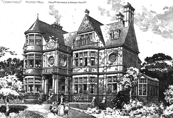 "1893 – ""Chartfield"", Putney Heath, London"