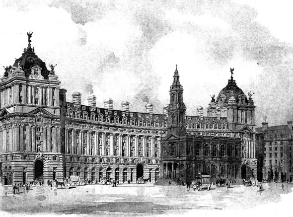 1907 &#8211; Design for Canada House, London