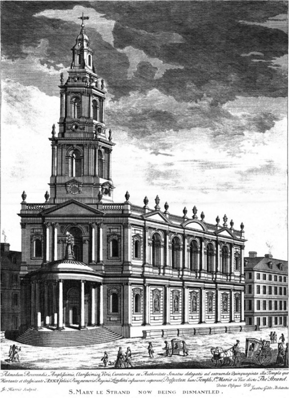 1723 – St. Mary le Strand Church, London