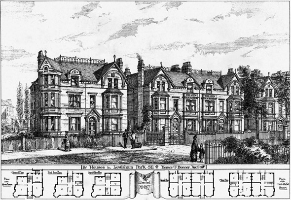 1878 &#8211; Houses in Lewisham Park, London