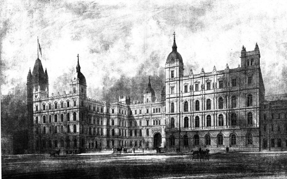 1884  New Admiralty &#038; War Offices, Whitehall, London