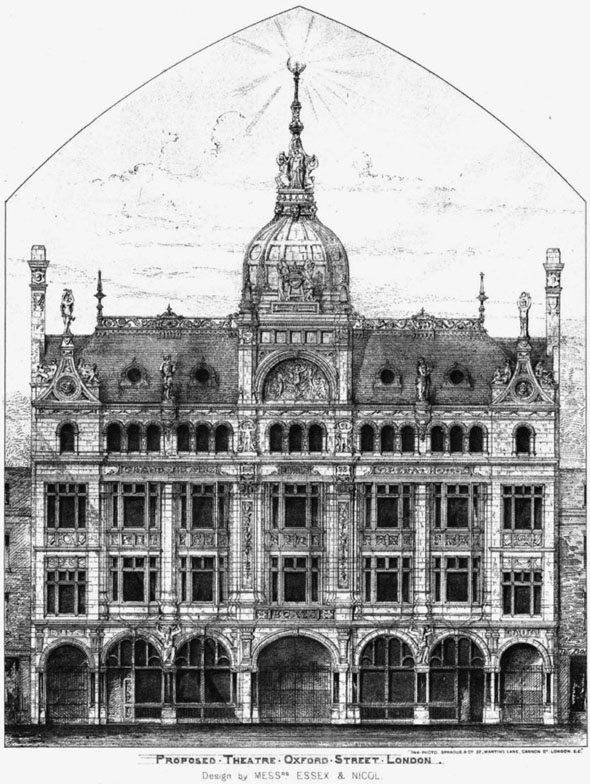 1888 &#8211; Proposed Theatre, Oxford Street, London