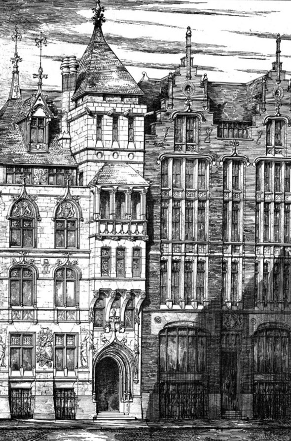 1876 &#8211; New Curriers Hall, London Wall, London