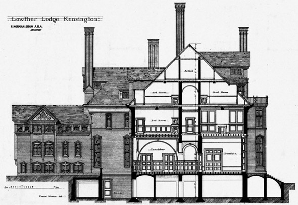 1875 – Lowther Lodge, Kensington, London
