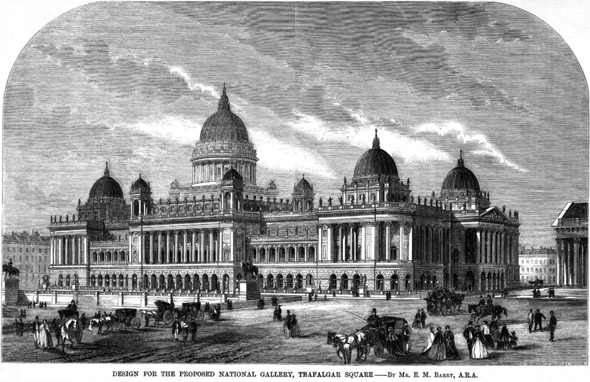 1867 – Design for National Gallery, Trafalgar Sq., London
