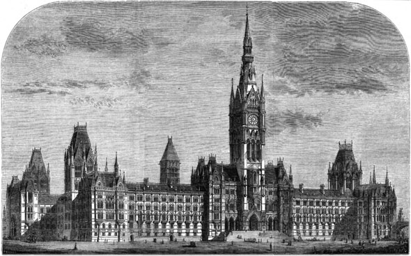 1867  Henry F. Lockwood&#8217;s Design for Royal Courts of Justice, London