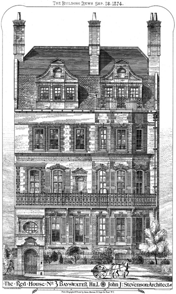 1871 &#8211; The Red House, No.3 Bayswater Hill, London