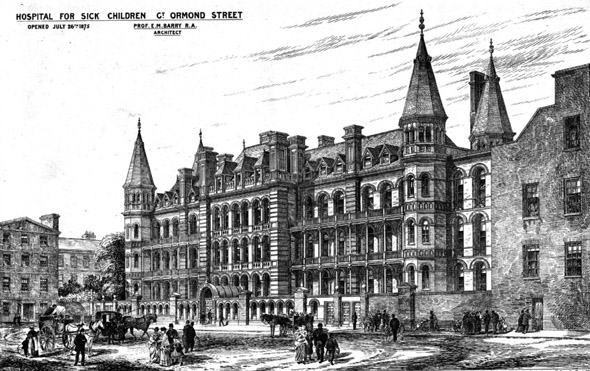 1875 – Hospital for Sick Children, Great Ormond Street, London