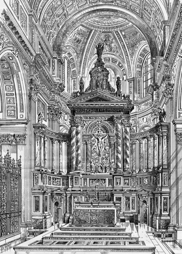 1888 – New Reredos & High Altar, St. Pauls Cathedral, London