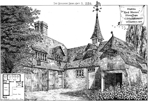 1884 &#8211; Stables for The Red House, Streatham, London