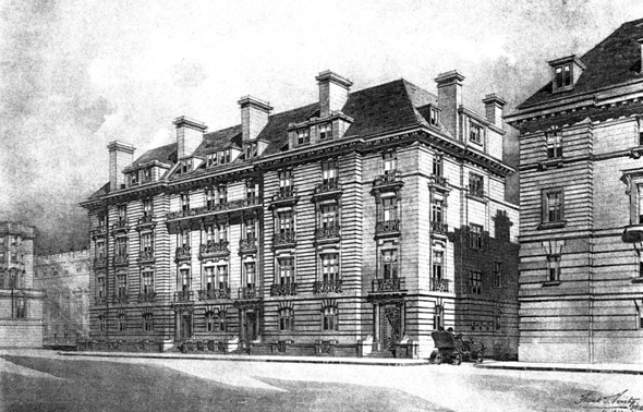 1906 &#8211; Mansions, Cleveland Row, Cleveland Square, London