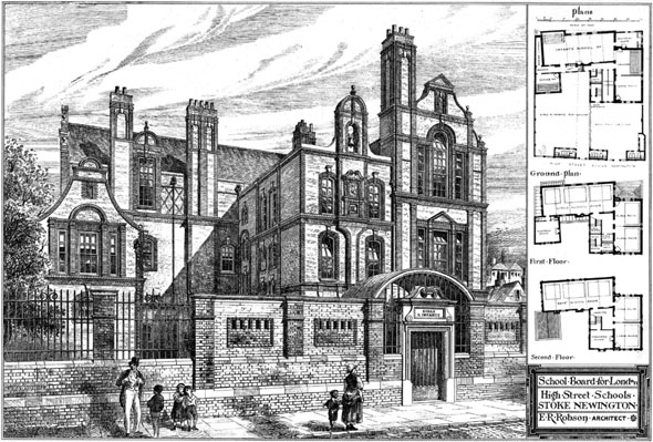 1876 &#8211; High Street Schools, Stoke Newington, London