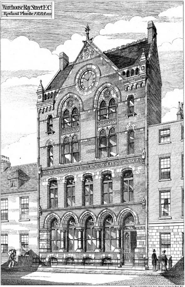 1875 – Warehouse, Ray Street, London
