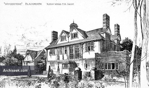 """1896 – """"Windermere"""", Blackheath, London"""