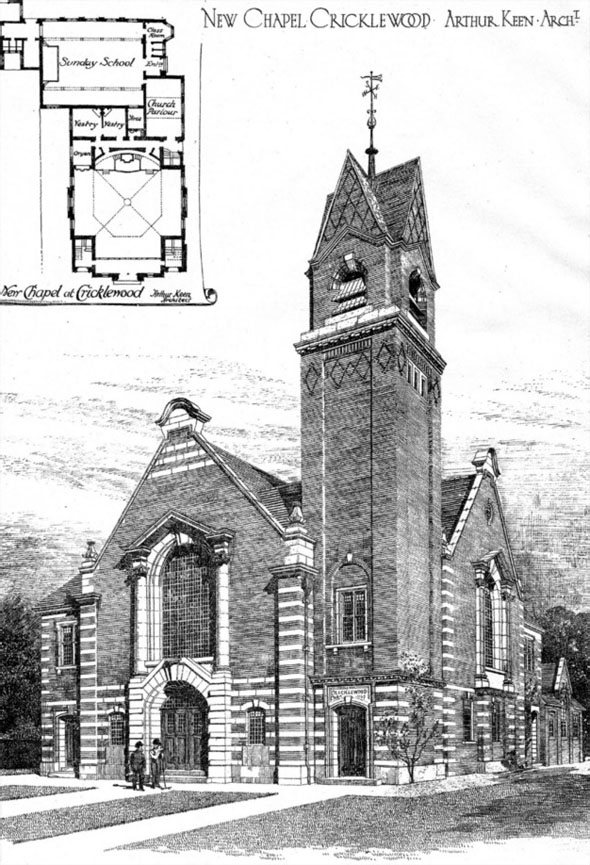 1908 &#8211; Baptist Church, Cricklewood, London