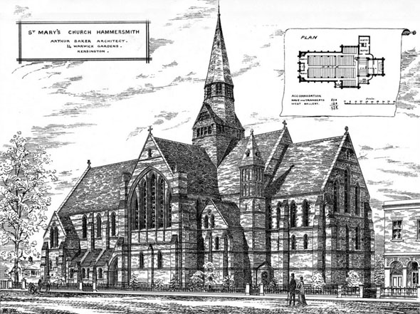 1881 –  St. Mary's Church, Hammersmith, London