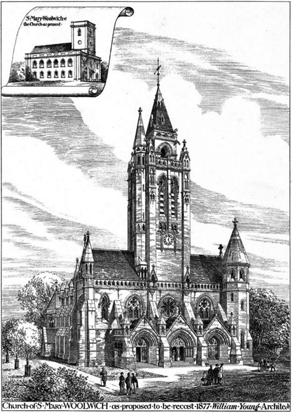 1878 &#8211; Design for Church of St. Mary Magdalen, Woolwich, London