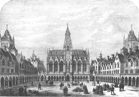 1869 &#8211; Columbia Market &#038; Dwellings, London