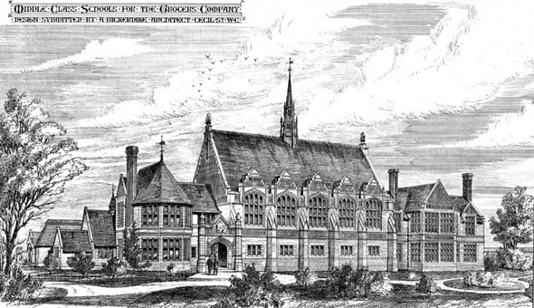 1874 – Middle Class Schools for the Grocers Company, Hackney, London