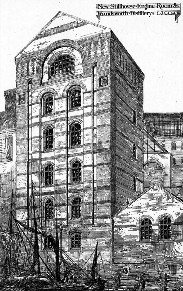 1875 – New Stillhouse & Engine Room, Wandsworth Distillery, London