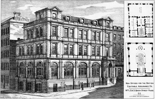 1888 &#8211; The Equitable Assurance Company, Queen Street Place, London.