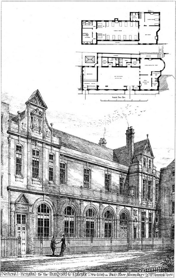 1880 – National Hospital for Paralysed & Epileptic, Bloomsbury, London
