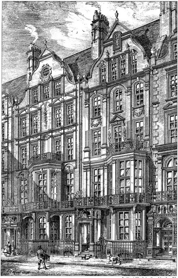 1880 – Houses, Cadogan Square, Chelsea, London