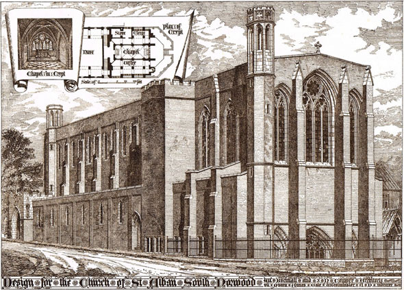 1892 &#8211; Design for Church of St.Alban, South Norwood, Croydon, Surrey