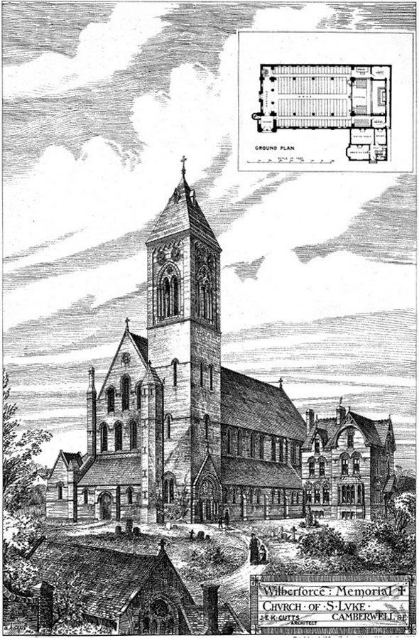 1876 – Wilberforce Memorial Church of St. Luke, Camberwell, London