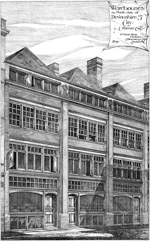 1879 – Warehouses, Devonshire Street, London